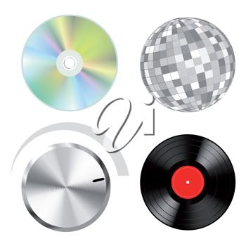 Royalty Free Clipart Image of Audio Objects