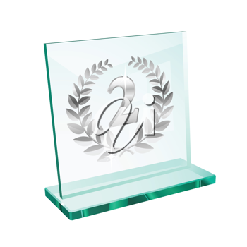 Royalty Free Clipart Image of a Second Place Trophy