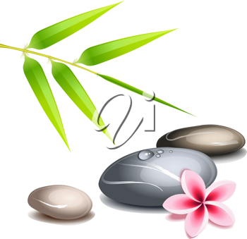 Royalty Free Clipart Image of a Zen Background