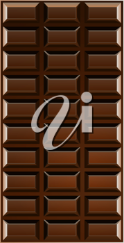Royalty Free Clipart Image of a Chocolate Bar