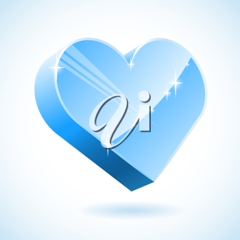 Royalty Free Clipart Image of an Ice Heart