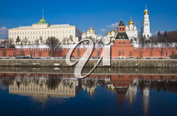 Royalty Free Photo of Moscow Kremlin and Cathedral of the Archangel Michael in Russia