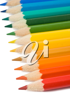 Royalty Free Photo of Coloured Pencil Crayons