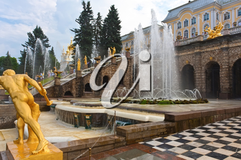 Fountains in Petrodvorets Peterhof, Saint Petersburg, Russia