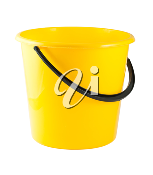 Royalty Free Photo of a Plastic Yellow Bucket