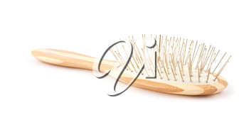 Royalty Free Photo of a Wooden Hairbrush
