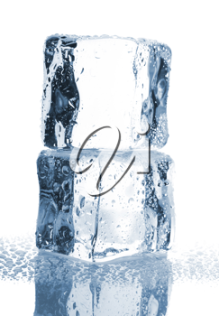 Royalty Free Photo of a Couple of Stacked Ice Cubes