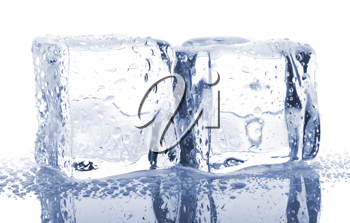 Royalty Free Photo of a Pair of Ice Cubes