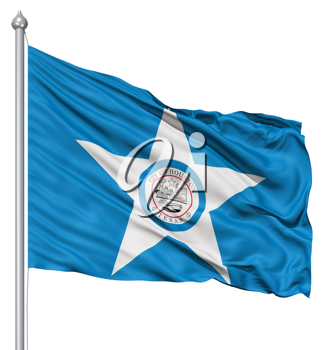 Royalty Free Clipart Image of the Houston City Flag