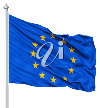 Royalty Free Clipart Image of the Flag of Europe