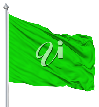 Royalty Free Clipart Image of a Green Flag
