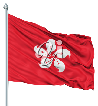 Royalty Free Clipart Image of the Flag of Hong Kong