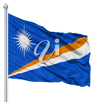 Royalty Free Clipart Image of the Flag of the Marshall Islands