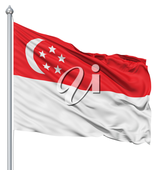 Royalty Free Clipart Image of the Flag of Singapore