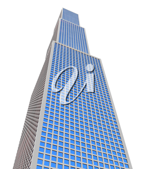 Royalty Free Clipart Image of a Skyscraper