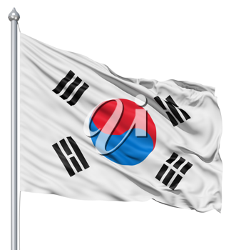 Royalty Free Clipart Image of the Flag of South Korea