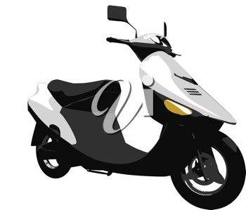 Royalty Free Clipart Image of a Scooter
