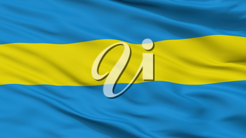 Slauharad City Flag, Country Belarus, Closeup View, 3D Rendering