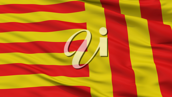 Peer City Flag, Country Belgium, Closeup View, 3D Rendering