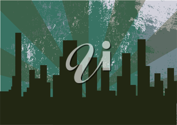 Royalty Free Clipart Image of an Illustration of a City