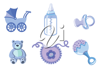 Royalty Free Clipart Image of Baby Icons