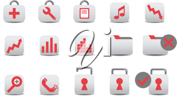 Royalty Free Clipart Image of Business Icons