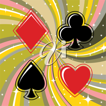 Royalty Free Clipart Image of Playing Card Suits
