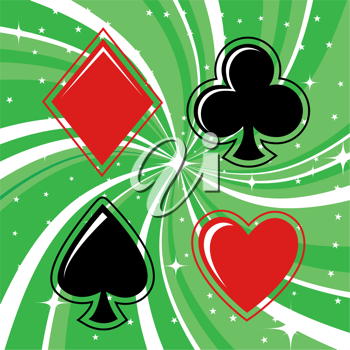 Royalty Free Clipart Image of a Playing Cards Background