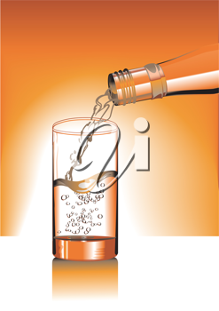 Royalty Free Clipart Image of a Glass of Water