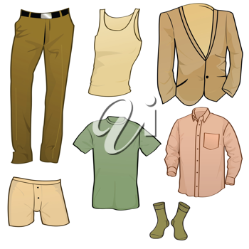 Royalty Free Clipart Image of a Set of Clothes