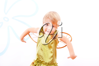 Royalty Free Photo of a Little Girl Dressed as a Fairy
