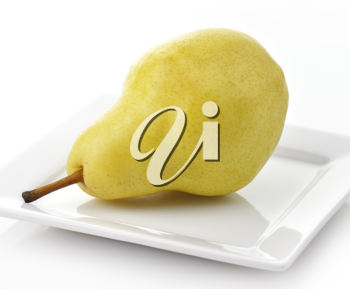 Royalty Free Photo of a Yellow Pear