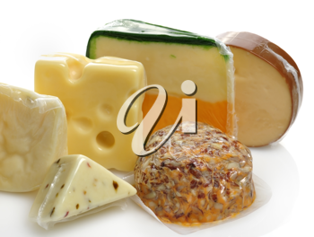 Royalty Free Photo of a Variety of Cheeses