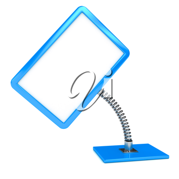 Royalty Free Clipart Image of a Board on a Spring