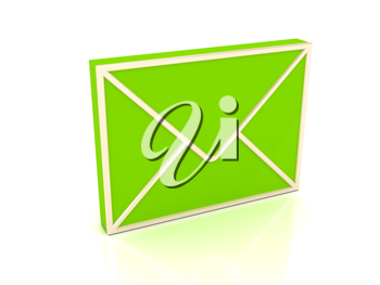 Royalty Free Clipart Image of a Green Envelope