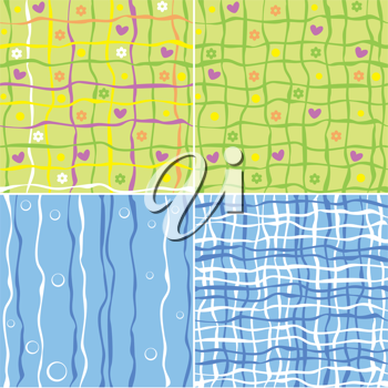 Royalty Free Clipart Image of a Set of Backgrounds