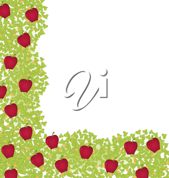 Royalty Free Clipart Image of an Apple Border