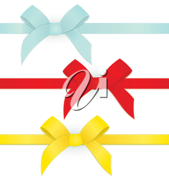 Royalty Free Clipart Image of a Bunch of Ribbons