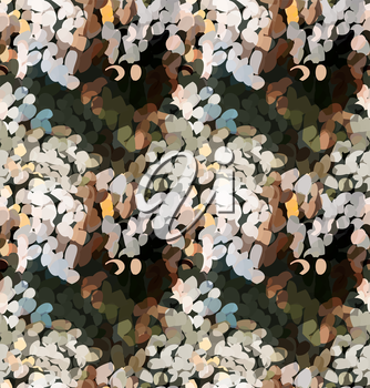 Mosaic waves with earth colors.Mosaic multicolored seamless background.
