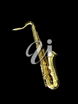 Royalty Free Clipart Image of a Saxophone