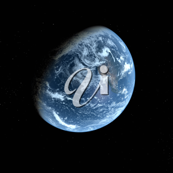 Royalty Free Clipart Image of the View of Earth from Space