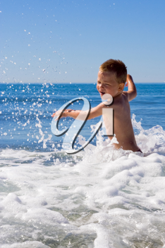 A young Child in the sea