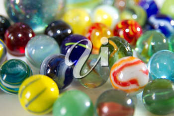 A beautiful collection of marbles