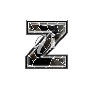 Abstract 3d letter with stone wall texture - Z