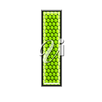 Abstract 3d letter with reptile skin texture - L
