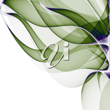 Royalty Free Clipart Image of an Abstract Aloe Vera Plant