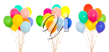 Royalty Free Photo of Bunches of Colourful Balloons