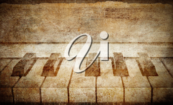 Royalty Free Photo of a Vintage Piano Background