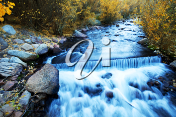 Royalty Free Photo of a Waterfall in Autumn