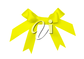 Royalty Free Photo of a Yellow Bow